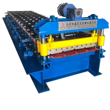 Lembaran Trapezoid Roofing Wall Cold Roll Forming Machine