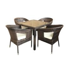 Aluminium Flechtweide Rattan Outdoor Dining Chair Furniture