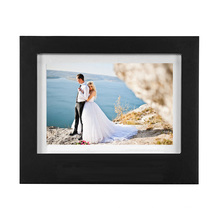 Amazon hot sale wholesale custom Wood frame Treasure memory wedding shadow box photo frame for souvenir