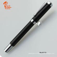 High-End Оптовая Engarve Металлическая ручка Черная роликовая ручка для бизнеса