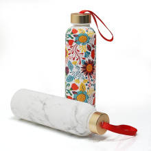 Koodee Summer Colorful Design Borosilicate Water Glass Bottle With Holder