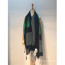 Fashion ladies voile printemps automne foulard imprimé / châle