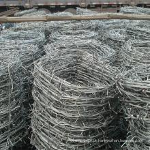 Malha de arame de ferro farpado galvanizado por imersão a quente