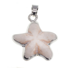 Silver / Gold Howlite Star Pendant