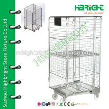 Wire Container Type and Heavy Duty Scale foldable Wire Mesh Roll Cage Container