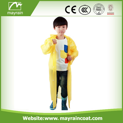 Disposable Kid PE Raincoat