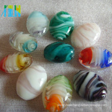 high quality wholesale multi-colored lampwork glass beads for jewelry making millefiori rice shape beads