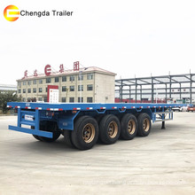 4 Axle Container Carry Flatbed Truck Trailer