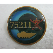 Metal Offset Printed Lapel Pin Badge with Epoxy (badge-104)