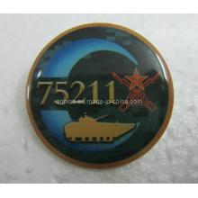 Metal offset impresso lapela pin badge com epóxi (badge-104)