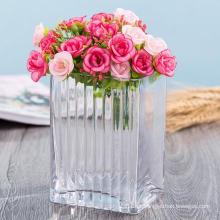 Vaso de decoração para casa Vaso de vidro artesanal de cristal de alta qualidade