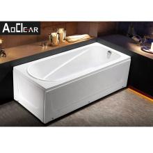 Aokeliya high-quality soaking bathtub 2-side skirted corner installation bathtub for tiny house use