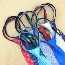 Skinny Schuluniformen Einstellbare Party Zipper Handmade Seidenkrawatte