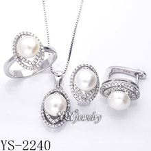 La venta directa de la fábrica de la fábrica joyería de la manera fijó la plata 925 (YS-2240)