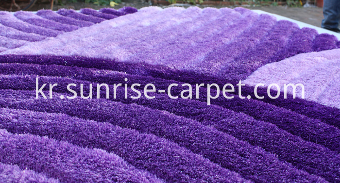 3D Shaggy Rug with Purple Color