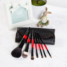 Animal Hair Makeup Brushes Within 7 PCS PU Bag.