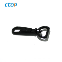 Wholesale lanyard accessory black color d ring metal hook bags snap spring dog hook for handbag d ring snap hook