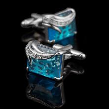 Gemelos de papel negro diamante de alta calidad de metal de moda
