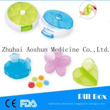 Push N Turn Pill Box Organizador desmontable y portátil (7 compartimentos)