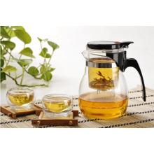 Ensemble de thé, pot de thé en verre, tasse à thé résistant à la chaleur, théière au borosilicate