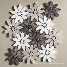 Mosaico de mármol de mosaico de piedra
