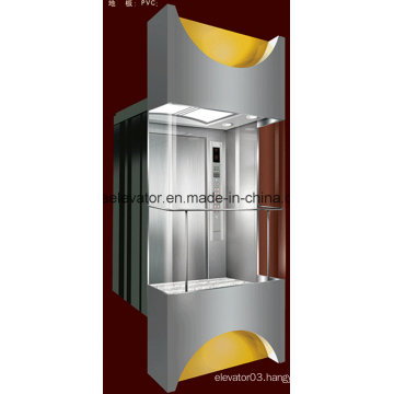 Square Shape Panoramic Elevator with 3 Sides Glass (JQ-A036)