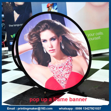 Ovales Gewebe POP UP Display Banner mit Tragetasche
