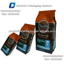 500g grama impressa, sacos de café aluminizados / saco de café moído com válvula