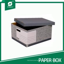 Caixa de arquivo de armazenamento de papel barato com tampa atacado