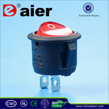 Small Cylindrical KCD1-101 Rocker Switch