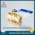 1 inch TK-207 brass ball valve with DN 25 female threaded lever handle forged cock valve with control valve in TMOK