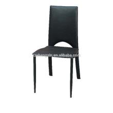 Chaise en PVC noir d'hôtel, chaise à dossier à vendre