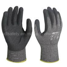 Нитрила покрытием порезов работы перчатку с стальные волокна (ND6508)