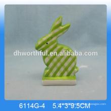 Lovely ceramic rabbit figurine,Ceramic rabbit ornament
