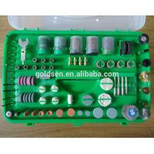 135w ETL GS Aprovação CE hobby poder ferramentas de ferramentas giratórias conjunto elétrico 217pcs Mini Grinder Kit