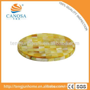 Vaisselles décoratives Golden MOP shell coaster coaster