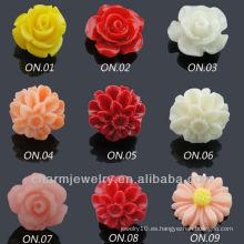 Acero quirúrgico de moda resina flor pendientes EF-007A