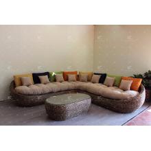 Popular Style Water Hyacinth Indoor Home Decor Furniture Sofa Set