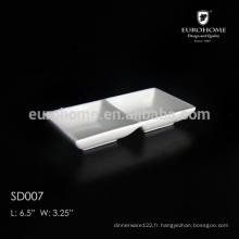 Céramique / Porcelaine 2 compartiments Plat à sauce SD007