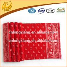 2015 Nouveau mode de promotion promotionnel en couleur rouge Jacquard Pattern en gros Echarpes pour dames