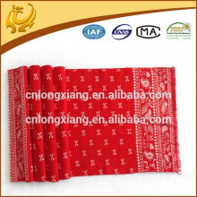 2015 New Coming Fashion Promotional Red Color Jacquard Pattern Wholesale Ladies Scarves