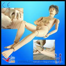 Advanced medical full functional old female nursing training model mannequin médical à vendre