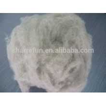 Dehaired and Carded Raccoon Hair Natural Brown
