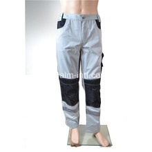 Grey / Black Polyester Cotton Pants