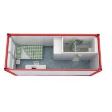 Alojamento em casa de contêiner quarto individual com mini casa