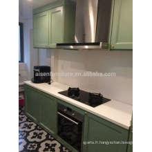 Design populaire de haute qualité en Chine Cabinet de cuisine en bois massif de style américain