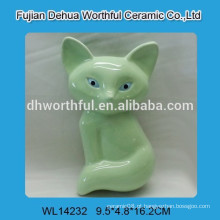 Alta qualidade cerâmica mini umidificador de ar com design de raposa verde