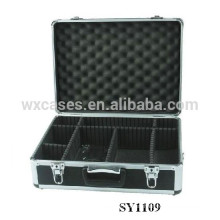 portable aluminum camera case with adjustable compartments inside manufacturer