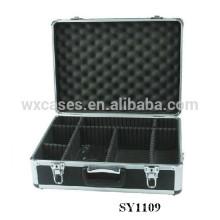 caso de câmera portátil de alumínio com compartimentos ajustáveis dentro fabricante