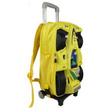 3D cartoon Trolley School Bag